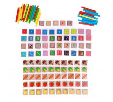 Арифметичний рахунок (135 елементів, 40 кольорових паличок)