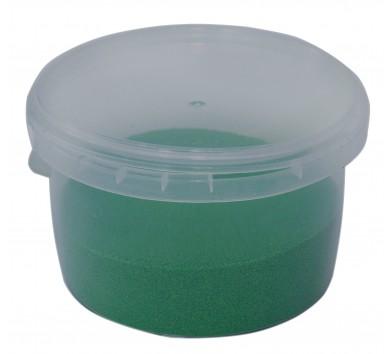 Пісок кольоровий для творчості, в контейнері 350 г, темно-зелений