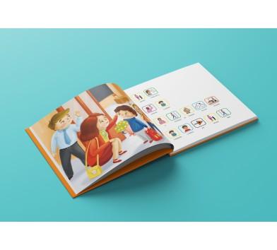 """""""Сашко іде до школи"""" (укр.), книга з піктограмами."""
