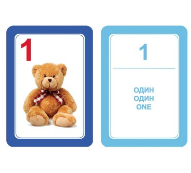 """Набір карток """"Рахунок і форма"""" - Interbaby"""