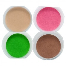 Набір кольорового піску (4 кольора) в пластикових контейнерах по 350г