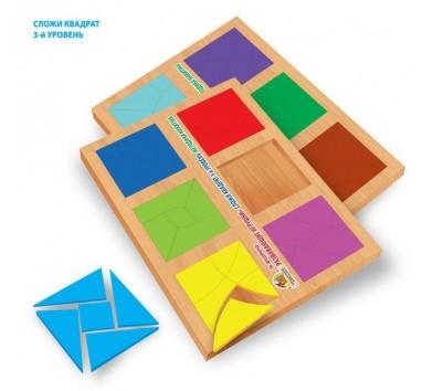 Склади квадрат - 3 рівень. Від 6 - 7 років. Методика Нікітіна