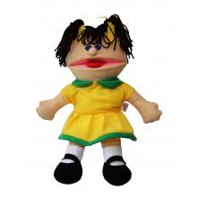 Лялька-рукавичка Puppets з язиком, дівчинка в жовтому, 1 шт.