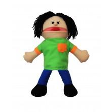Лялька-рукавичка Puppets з язиком, хлопчик у салатовому, 1 шт.