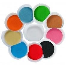 Набір кольорового піску (10 кольорів) в пластикових контейнерах по 350г