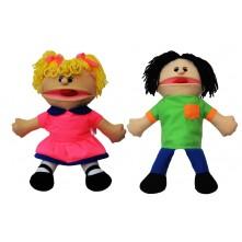 """Ляльки-рукавички Puppets з язиком, набір № 1 """"Хлопчик і дівчинка"""""""