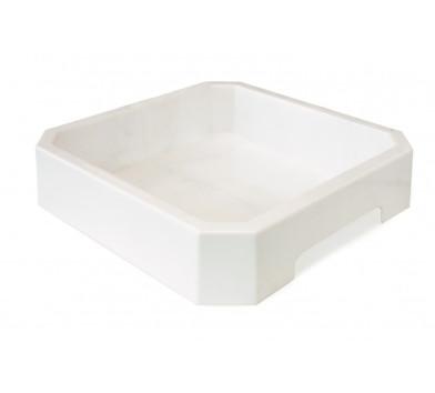 Пісочниця пластикова (біла) 30х30х6 см