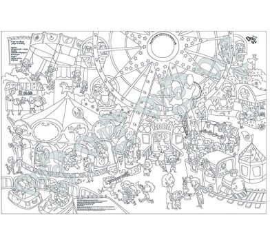 Велика розмальовка 'Парк атракціонів' - РОЗПРОДАЖ