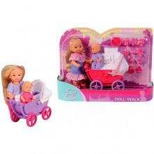 Лялька Еві з дитиною у візочку , 2 види, 3+