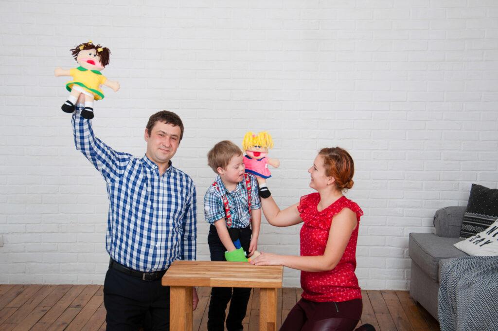 Фото лялька-рукавичка для логопедії